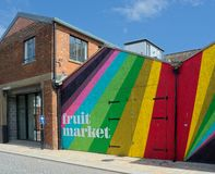 Fruktmarknad, skrov, UK royaltyfri fotografi