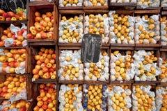 fruktmarknadsmontevideo gator arkivbilder