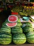 fruktmarknadsvattenmelon fotografering för bildbyråer