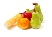 fruktmarsipaner Arkivfoton
