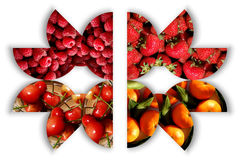 Fruktmaskering Arkivbilder