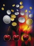 fruktmaskinöppning Royaltyfri Fotografi
