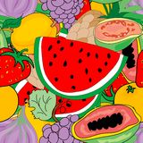 Fruktmodell Arkivbild