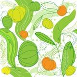 Fruktmodellbakgrund. Vektorillustration. Royaltyfri Bild
