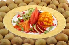 fruktplatta Arkivbild
