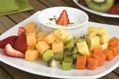 fruktplatta Arkivfoto