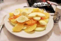 Fruktplatta, når att ha ätit Royaltyfri Fotografi