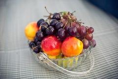 Fruktplatta på en picknick Royaltyfria Foton