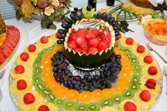 fruktprydnadar Arkivfoton