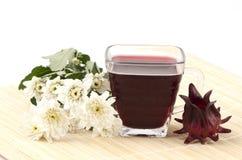 Fruktsaft för Jamaica syra, för röd syra, Roselle och Rozelle (hibiskussabdariffaen L.) royaltyfria foton