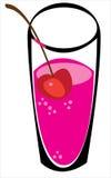 Fruktsaft i exponeringsglas på vit Arkivbild