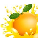 Fruktsaftapelsin Arkivbild