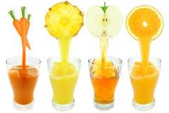 fruktsaftar Arkivfoto