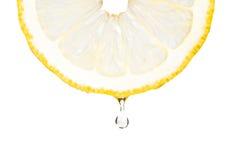 fruktsaftcitron över white Royaltyfri Bild