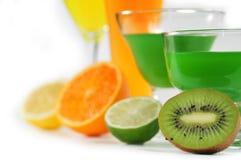 Fruktsafter av citron- frukt Arkivfoto
