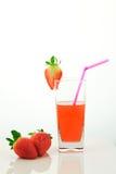 fruktsaftjordgubbe Arkivfoton