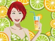 fruktsaftorange stock illustrationer