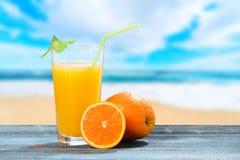 fruktsaftorange Fotografering för Bildbyråer