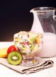 Fruktsallad med yoghurt fotografering för bildbyråer
