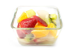 Fruktsallad, sund livsstil Arkivfoto