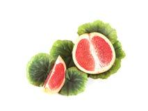 Fruktsammansättning av den mogna grapefrukten Royaltyfri Bild