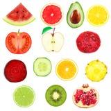 Fruktskivor Arkivfoto
