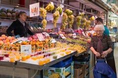 Fruktställning 3 royaltyfri fotografi