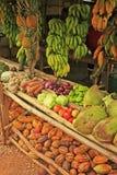 Fruktställning i den lilla byn, Samana halvö Royaltyfri Fotografi