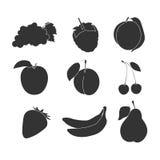Fruktsymbolsmakt royaltyfri illustrationer