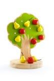 Fruktträdet leker med magneter för att klibba för att bära frukt royaltyfria foton