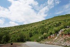 Fruktträdgårdkulle i bygd av Rumänien Fotografering för Bildbyråer