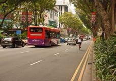 Fruktträdgårdväg, Singapore-mars 2008 Sikt av fruktträdgårdvägen, Singapor Arkivbild