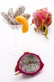 Fruktträmassa av jordgubbepäronet Arkivfoto