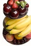 fruktuppläggningsfat Royaltyfria Bilder