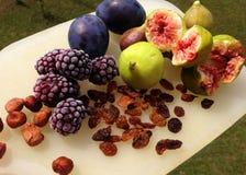Fruktuppläggningsfat Arkivfoto
