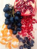 Fruktuppläggningsfat Arkivbild