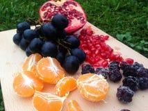 Fruktuppläggningsfat Royaltyfria Foton