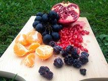 Fruktuppläggningsfat Arkivbilder