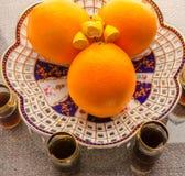 Fruktuppsättning av apelsinen Arkivfoton