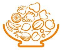 fruktvase stock illustrationer