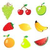 fruktvektor vektor illustrationer