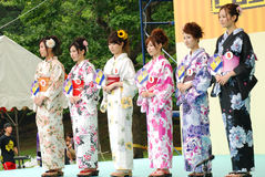 Fräulein Fuji City in der Fuji-Stadt Stockfotos