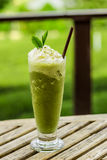 Frullati del tè verde Fotografia Stock Libera da Diritti