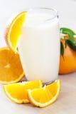Frullato arancio Immagini Stock Libere da Diritti