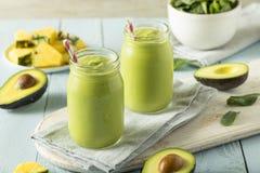 Frullato casalingo sano dell'avocado Fotografia Stock Libera da Diritti