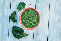 Frullato con spinaci Fotografia Stock Libera da Diritti