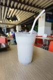 Frullato del ghiaccio del latte di cocco Fotografie Stock Libere da Diritti
