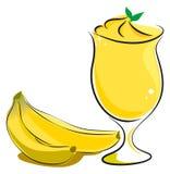 Frullato della banana Fotografia Stock Libera da Diritti