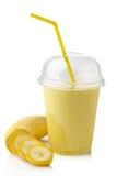 Frullato della banana Fotografia Stock