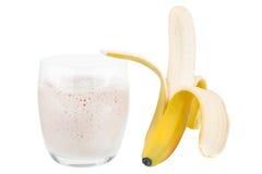 Frullato della banana Fotografie Stock Libere da Diritti